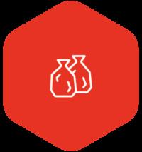 Icon: Zwei Müllsäcke